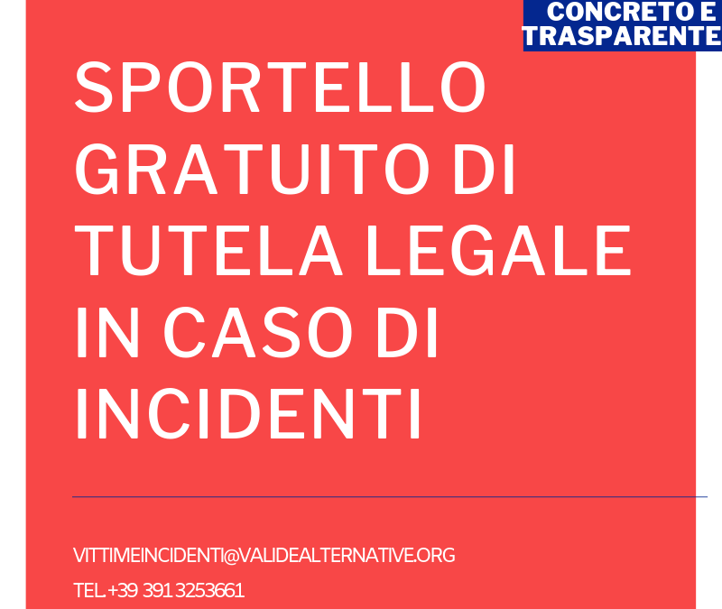 ACT- Sportello gratuito vittime incidenti