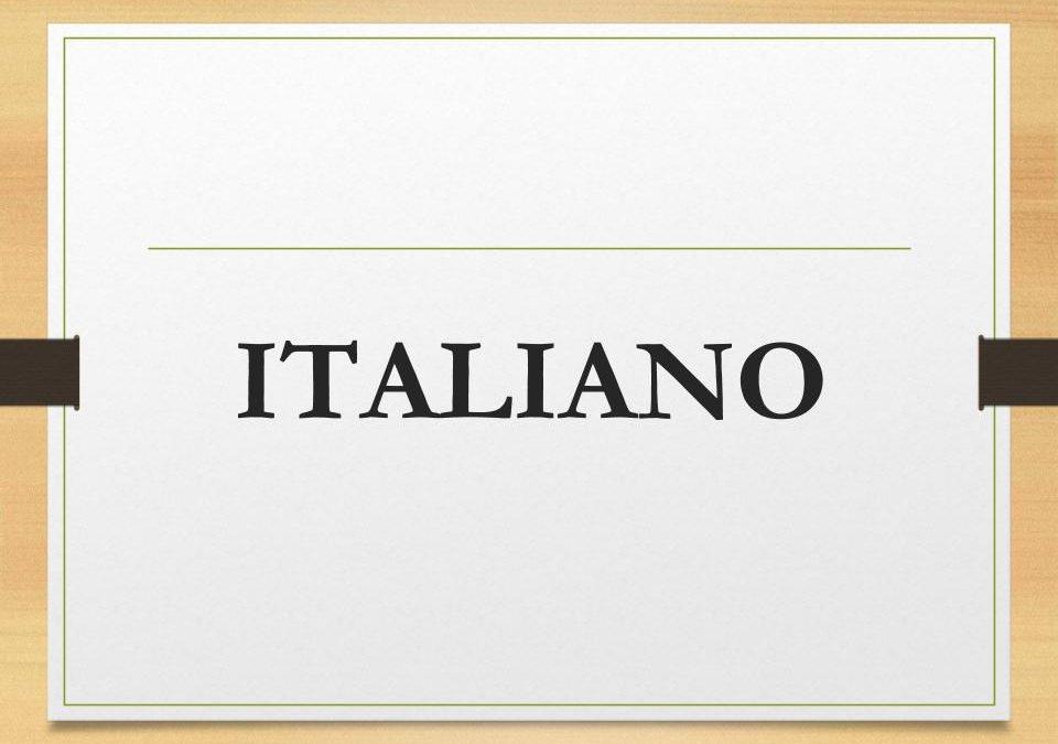 Italiano: corsi attivi, diari, frequenze, materiale utile